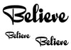 Believe Temporary Tattoo-Script Tattoos