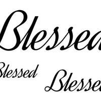 Blessed Temporary Tattoo-Script Tattoos