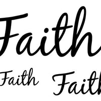 Faith Temporary Tattoo-Script Tattoos