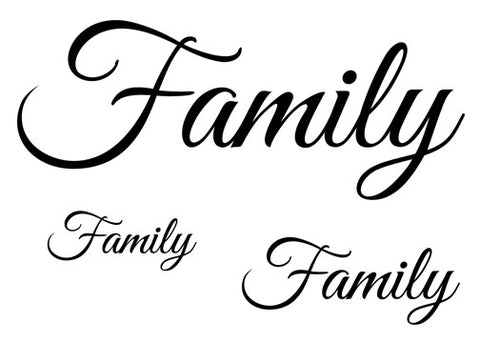 Family Temporary Tattoo-Script Tattoos