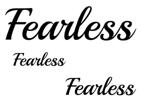 Fearless Temporary Tattoo-Script Tattoos