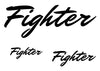 Fighter Temporary Tattoo-Script Tattoos