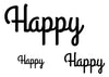 Happy Temporary Tattoo-Script Tattoos