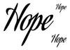 Hope Temporary Tattoo-Script Tattoos