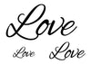 Love Temporary Tattoo-Script Tattoos