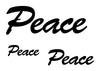 Peace Temporary Tattoo-Script Tattoos