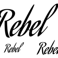 Rebel Temporary Tattoo-Script Tattoos