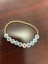 Load image into Gallery viewer, 3mm 14K Gold Beaded Bracelets -Custom!