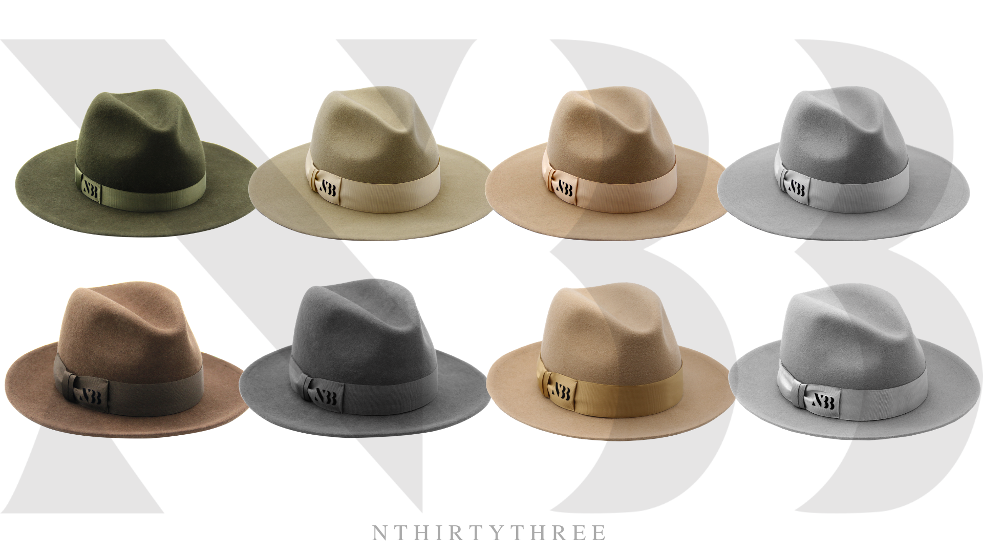 The Fedora Hat Collection of NTHIRTYTHREE