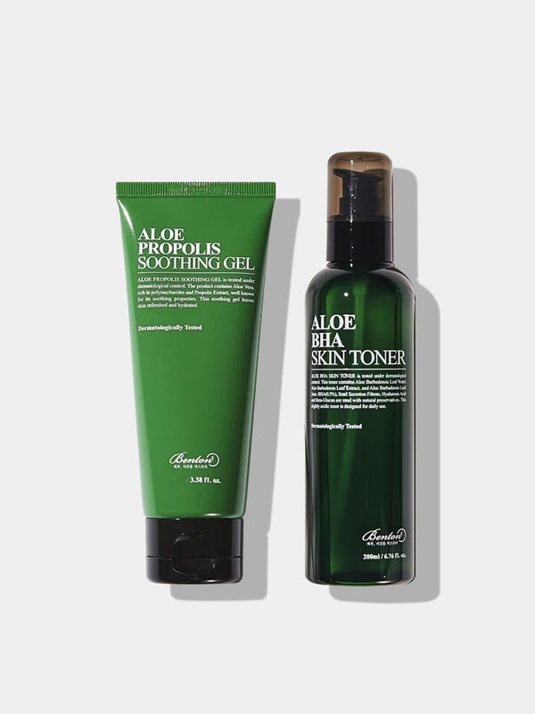 Soothing Set (Aloe BHA SKIN TONER 200ml + Aloe PROPOLIS SOOTHING GEL 100ml)
