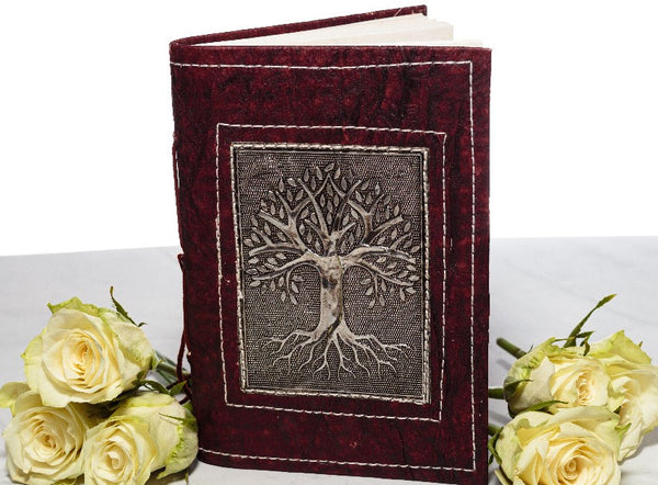 Small Handmade Recycled Notebook - Tree - MysticSoul_108
