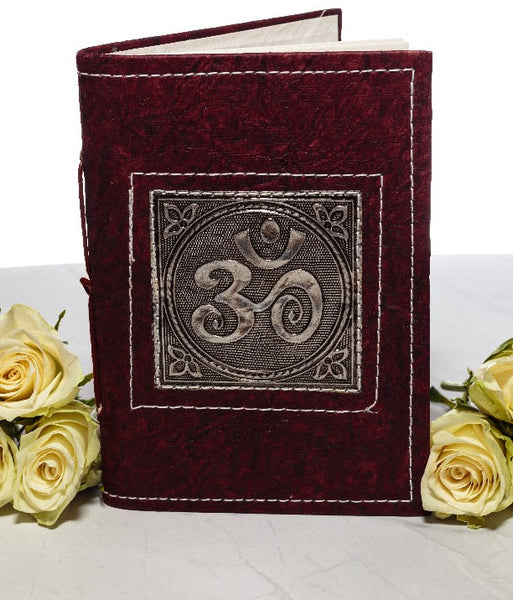 Small Handmade Recycled Notebook - OM Symbol - MysticSoul_108