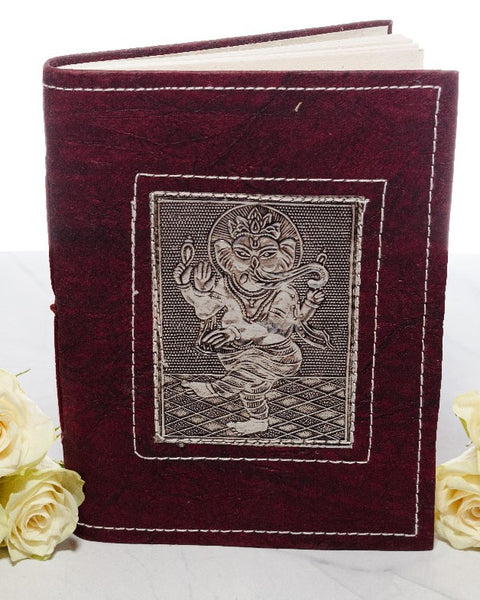 Medium Handmade Recycled Notebook - Ganesh - MysticSoul_108