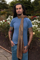 Mantra Sarong - Om Namah Shivaya - Light Brown - MysticSoul_108