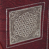 Small Handmade Recycled Notebook - Flower Of Life