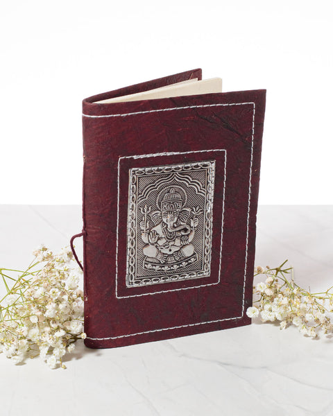 Small Handmade Recycled Notebook - Ganesh - 2