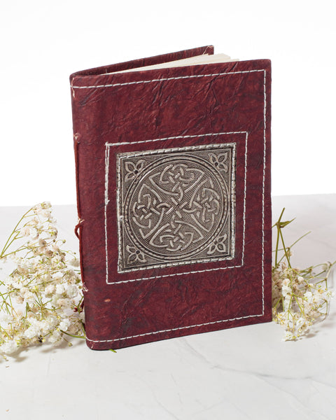 Small Handmade Recycled Notebook - Celtic Knot