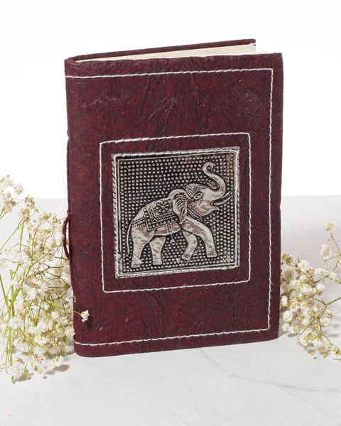 Small Handmade Recycled Notebook - Elephant - 2