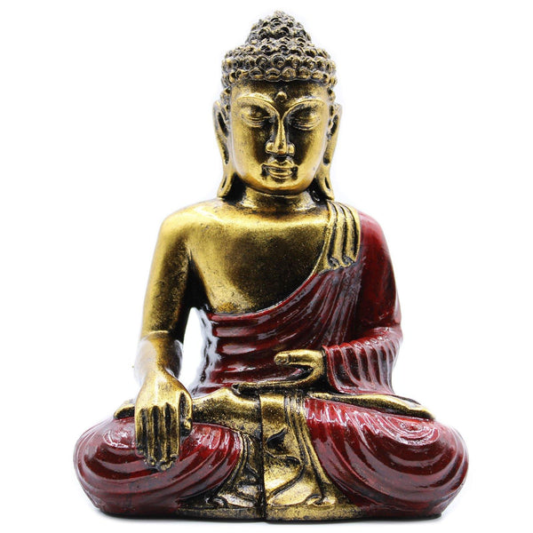 Hand Crafted Buddha - Red & Gold - Large - MysticSoul_108