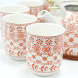 Herbal Tea Pot Set - Amber Bohemian Pattern - MysticSoul_108
