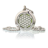 Aromatherapy Diffuser Jewellery - Necklace - Flower Of Life - 25mm - MysticSoul_108