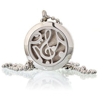 Aromatherapy Diffuser Jewellery - Necklace - Music Notes - 25mm - MysticSoul_108
