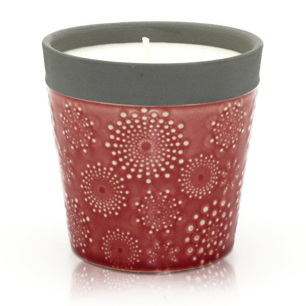 Home is Home - Ceramic Candle Pots - Rambling Rose - MysticSoul_108