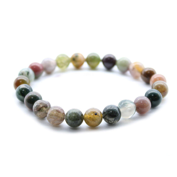 Crystal Power Bracelet - Moss Agate - Awaken Talents - MysticSoul_108