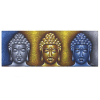 Buddha Painting - Three Heads - Gold Detail - MysticSoul_108