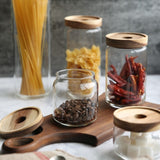 Cottage Bamboo Glass Jar - 10cm