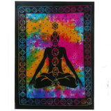 Hand Printed Cotton Wall Hanging - Chakra Buddha