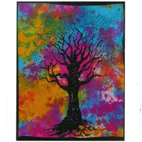 Hand Printed Cotton Wall Hanging - Tree of Strength