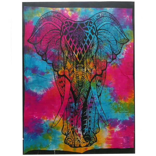 Hand Printed Cotton Wall Hanging - Elephant