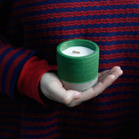 Wooden Wick Soy Wax Candles - Medium Round Pot - Green - Sea Moss & Herbs - MysticSoul_108