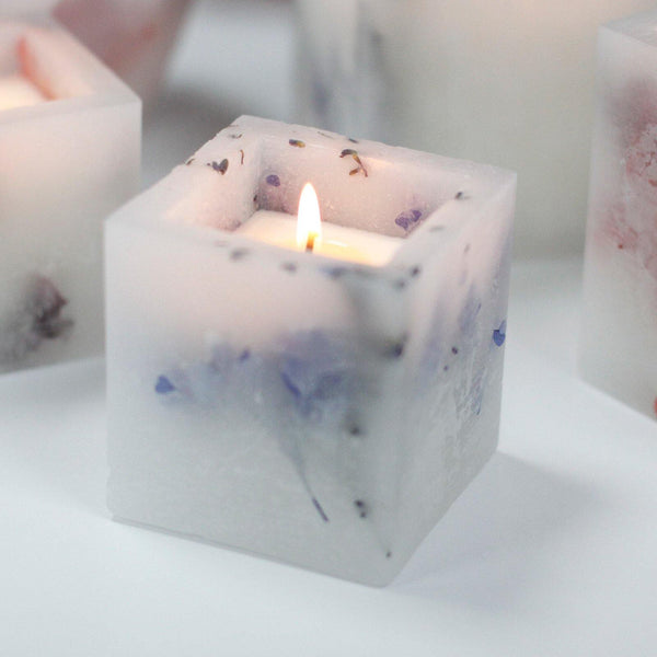 Enchanted Candle - Small Square - Lavender - MysticSoul_108