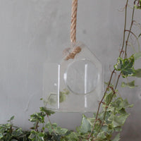 Glass Terrarium - Hanging House On A Rope - MysticSoul_108