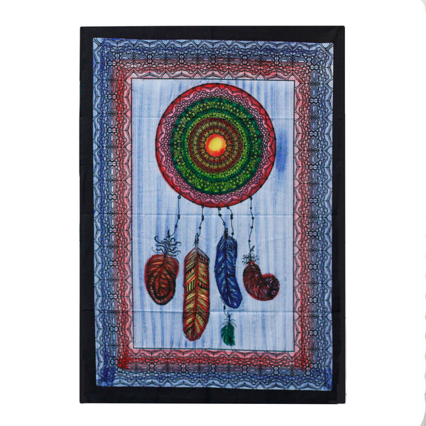 Hand brushed Cotton Wall Hanging - Dreamcatcher