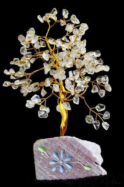 Gemstone Tree - Clear Quartz - 160 Stone