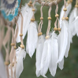 Handmade Macramé Dreamcatchers - Small - Pastel Blue/White - MysticSoul_108