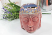 Ceramic Oil Burner - Buddha Head - Rose & Teal - MysticSoul_108