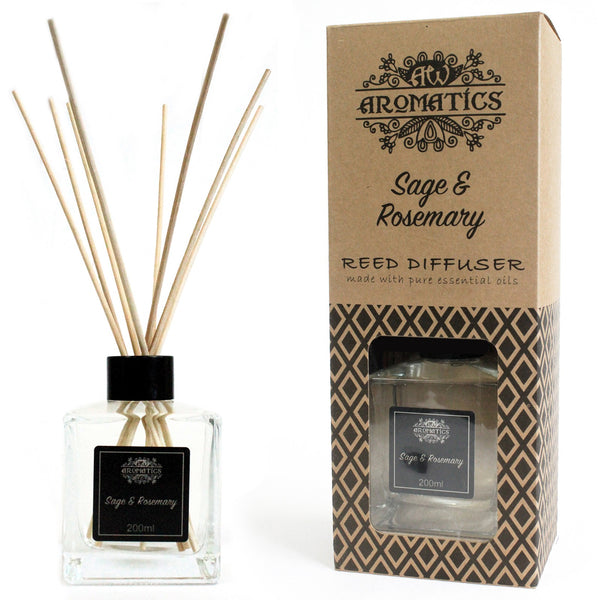 Essential Oil Reed Diffuser - Sage & Rosemary - 200ml