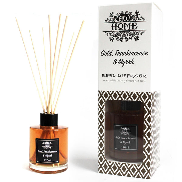 Home Fragrance Reed Diffuser - Gold, Frankincense & Myrrh - 120ml