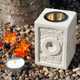 Hand Crafted Sandstone Oil Burners - Square Moorish