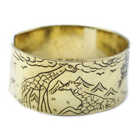 Handcrafted Tibetan Bangles - Brass - Tree Of Life