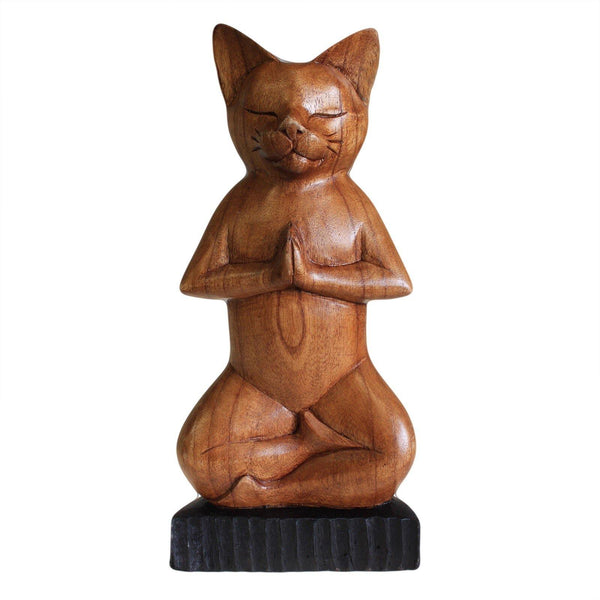Hand Carved Yoga Cats - Full Lotus - MysticSoul_108