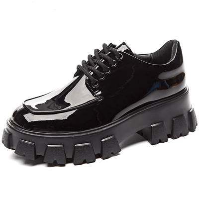 Black Lace-Up Shoes - HeraDaphne
