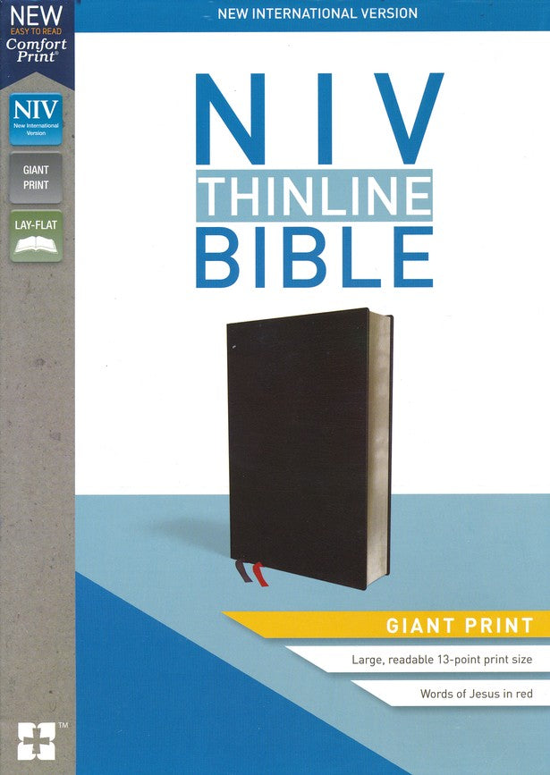 NIV THINLINE BIBLE GIANT PRINT, BONDED LEATHER, BLACK