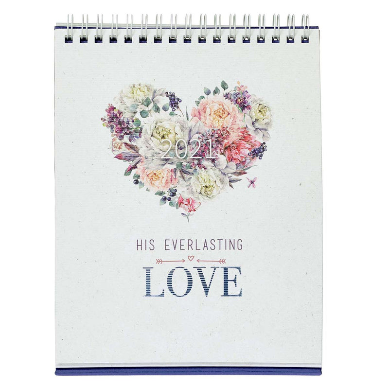DESK-TOP CALENDAR-  HIS EVERLASTING LOVE