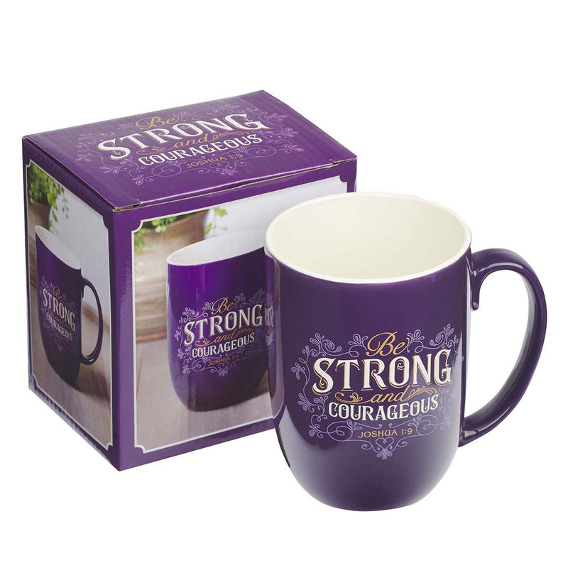 MUG664 / Be Strong and Courageous-Mugs Ceramic
