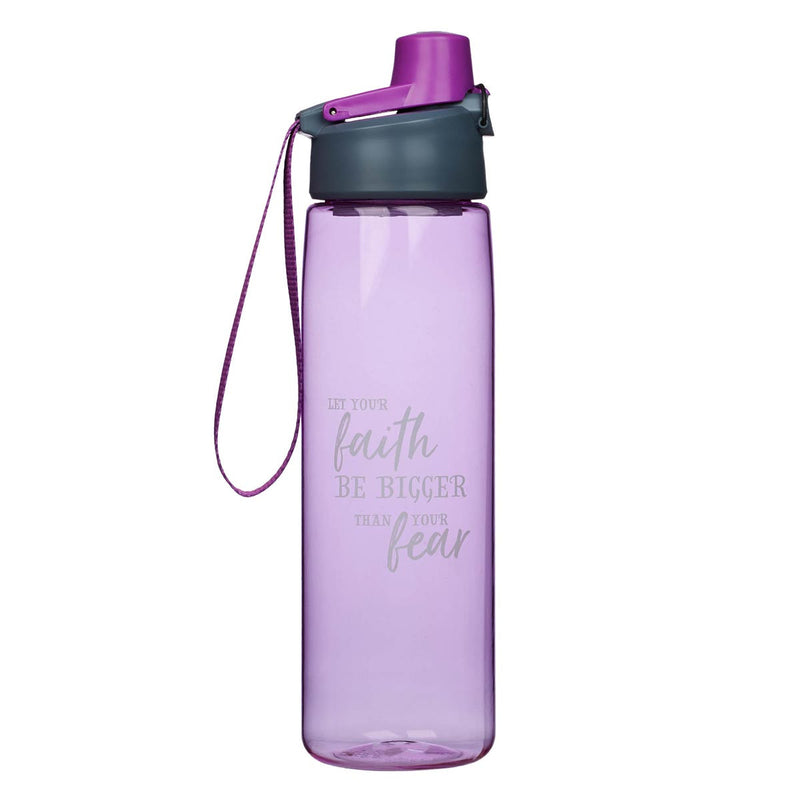 Water Bottle Plastic-Faith Bigger than Fear